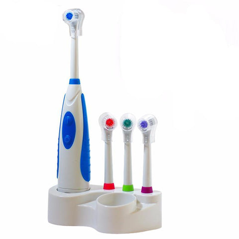 Adult Electric Toothbrush With 4 Changeable Heads