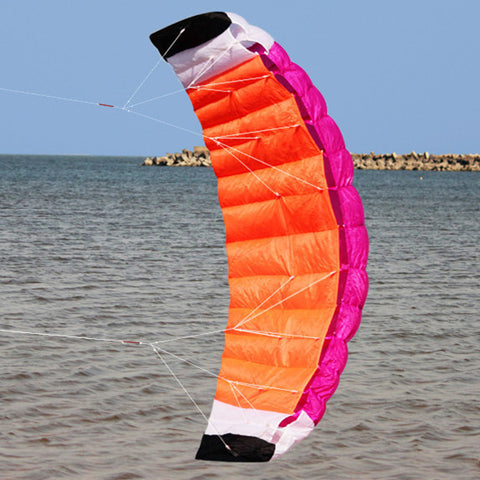 High-Quality 2m Nylon Dual Line Parafoil Kite With Control Bar Line