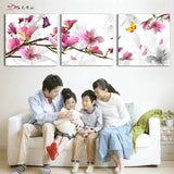 New Printed Flower Oil Painting On Canvas 3 pcs - UYL Online Store
