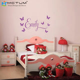 Personalised Name Princess Wall Decal Nursery Vinyl Sticker