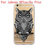 Soft TPU Silicon Transparent Thin Cover Cute Cat Owl Animal Case - UYL Online Store