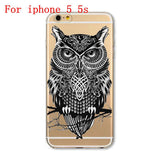 Soft TPU Silicon Transparent Thin Cover Cute Cat Owl Animal Case FREE Plus Shipping Offer - UYL Online Store