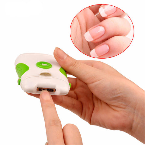 Electric Nail Cutter Clipper with Scissors and Brush for Manicure - UYL Online Store