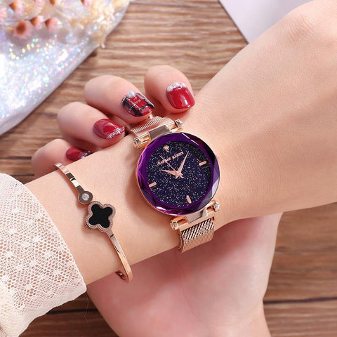 New Fashion Ladies Star Watch With Easy Magnet Lock