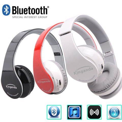 Smart Bluetooth 4.0  Adjustable Wireless Earpiece Stereo Headset Headphone Gaming Earphone with Mic