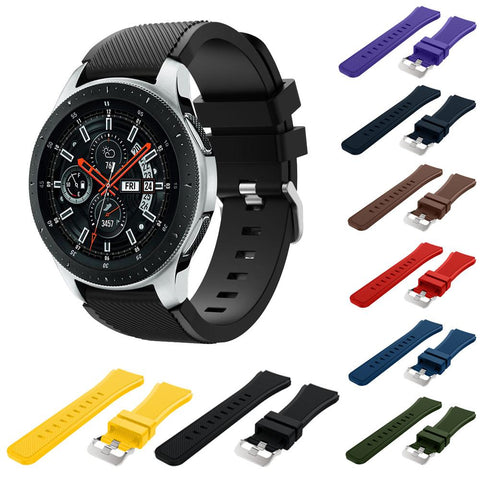 Soft Silicone Watch Band Replacement Nato Strap For Samsung Galaxy Watch