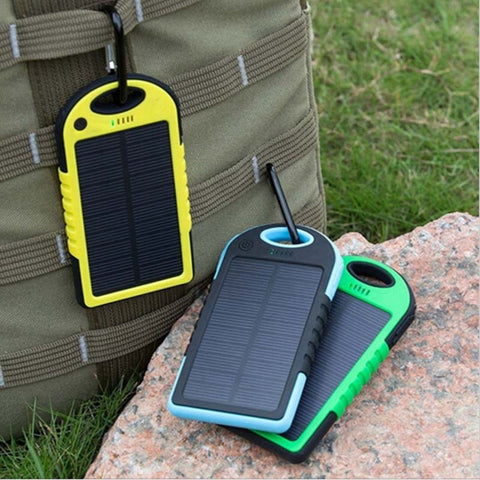 Portable Solar Charger 5000mah Dual-USB Drop Resistance For Smartphone