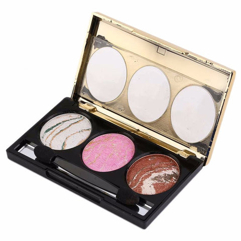 Long Lasting 3 Colors Eye Shadow Palette