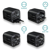 Universal Travel Charger 2-Port Fast Charge All in one USB Travel Adapter