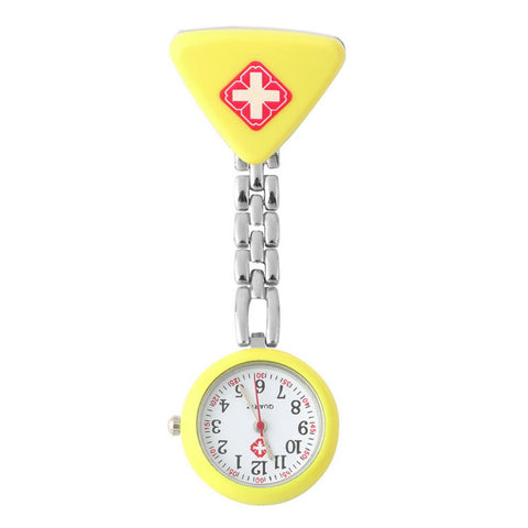 Nurse Doctor Triangle Pendant Pocket Quartz Red Cross Brooch Nurses Watch Fob Hanging Medical FREE plus Shipping offer - UYL Online Store