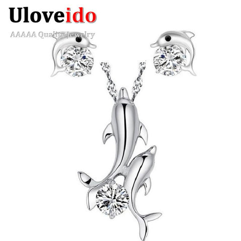 Silver Dolphin Jewelry Set - UYL Online Store