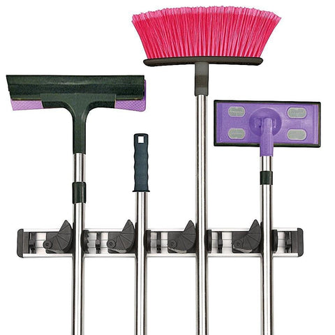 Wall Mounted Universal Storage Organiser Mop and Broom Holder Rack
