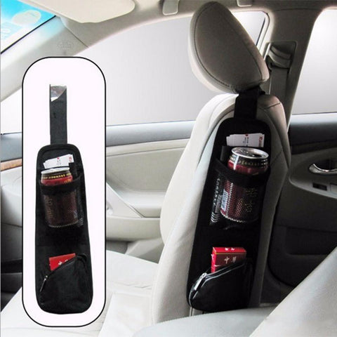Car Hanging Bag Collector Organizing Bag with Storage Pockets for Interior Seat Covers