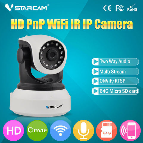 HD Wireless Security IP Audio Recording Surveillance Camera Monitor with Night Vision
