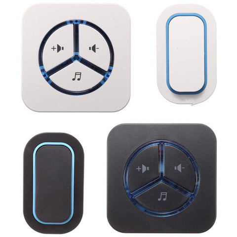 Waterproof Wireless Cordless Home Digital Doorbell Wall Plug-in Chime Kit