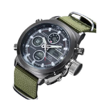 Sports Watch Nylon Leather Quartz Digital Watch