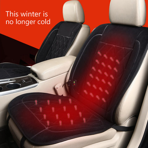 Heated Velvet Car Seat Pad