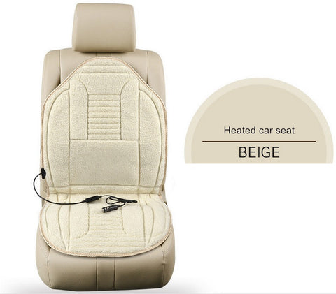 Heated car Seat Cover- Beige