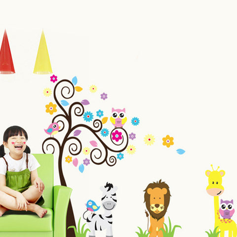 Kids Room Zoo Baby Room Decorative Sticker Cartoon Wall Art - UYL Online Store