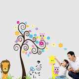 Kids Room Zoo Baby Room Decorative Sticker Cartoon Wall Art FREE plus Shipping Offer