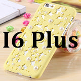Fashion Pierced Flower Pearl Protective Case For iPhone 6 4.7 / Plus 5.5 inch Candy Color Hard Cover For iPhone 6 - UYL Online Store