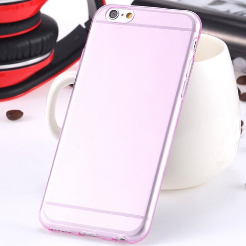 Super Flexible Clear Ultra Thin TPU Silicon Gel Case For iPhone