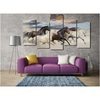 Horses Wallart 5 Piece Staggered 2