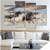 Horses Wallart 4 Piece Staggered 2