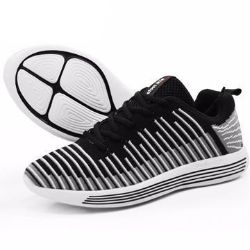 Black Stripe Sports Shoes - UYL Online Store