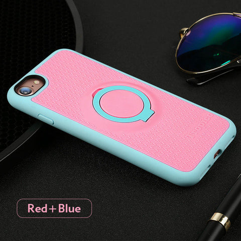 High Quality Phone Case Cover with Ring Holder and Magnetic Back for iPhone 7 and 7 Plus - UYL Online Store