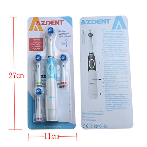 Electric Toothbrush with 4 Brush Head