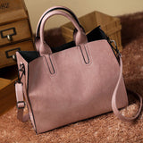 Women Oil Wax Leather Shoulder Handbag - UYL Online Store
