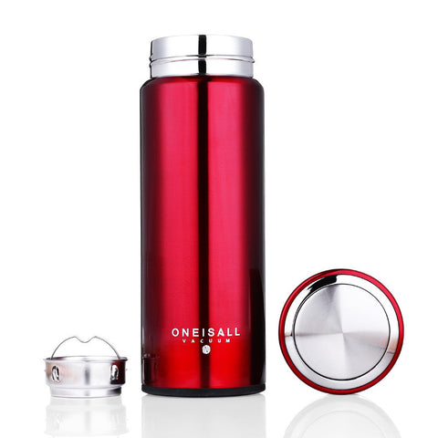 Stainless Steel Insulated Medium Thermos Mug With Tea Infuser