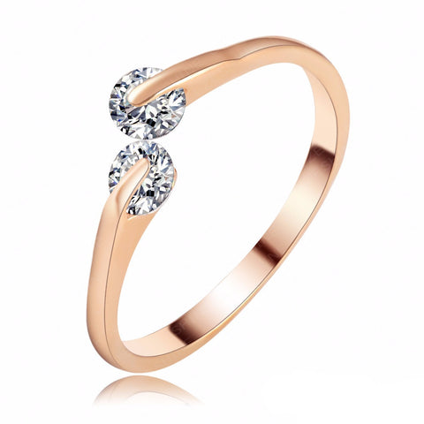 Slim Rose Gold & Silver Rings