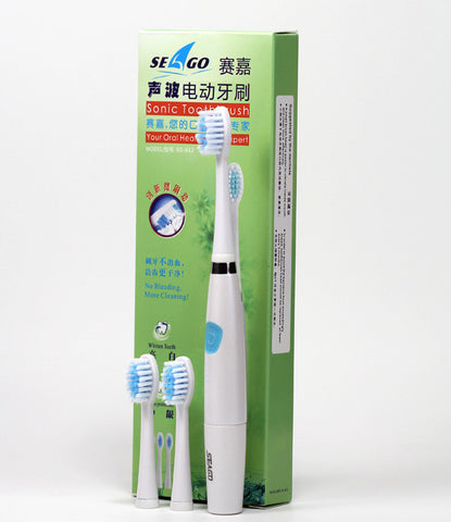 Ultrasonic Electric Toothbrush With 3 Tooth Brush Heads