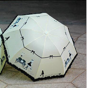 High Quality Colorful 3-Fold Graphic Vintage Design Umbrella - UYL Online Store