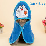 Super Absorbent Cartoon Animal Hooded Pet Cleaning Drying Bath Robe