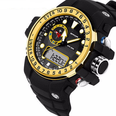 Sanda Waterproof and  Dual Time Men 's Watch - UYL Online Store