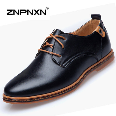 Men's Leather Oxfords Casual Autumn Flats Shoes - UYL Online Store
