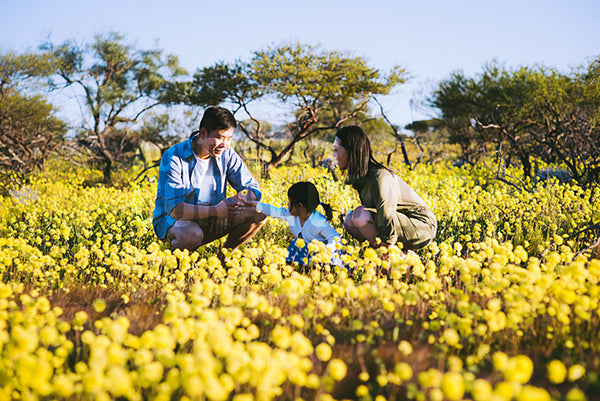 wildflowers with asian family coalseam