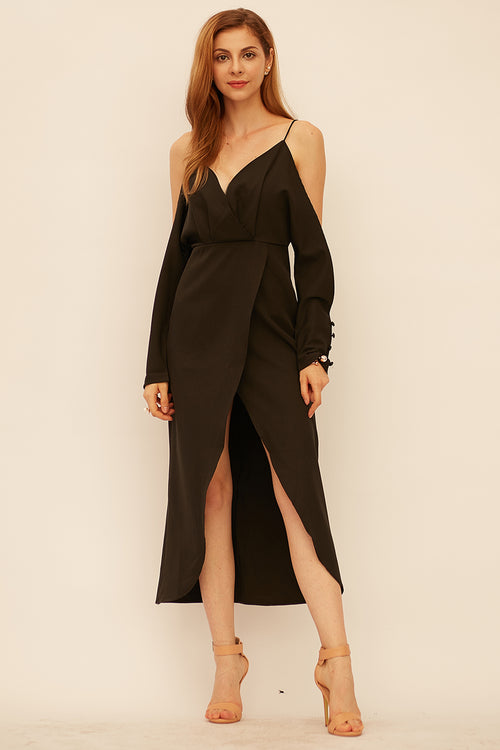 Kate Cold shoulder Overlap Dress