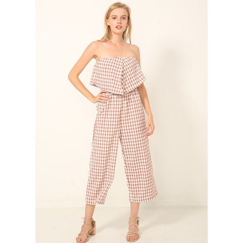 Gaelyn Gingham Jumpsuit -  - Kerkés Fashion