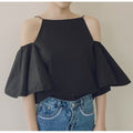 Chloe Cut Out Shoulder Top - Tops - Kerkés Fashion