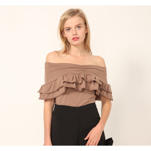Coco Ruffled Offshoulder Top - Tops - Kerkés Fashion