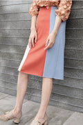 Clara Color Block Pencil Skirt - Skirts - Kerkés Fashion