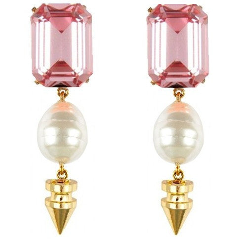 Crystal & Baroque Drop Earrings - Earrings - Kerkés Fashion