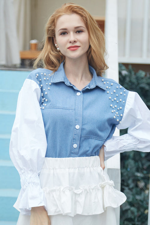 Denim Pearl Shirt