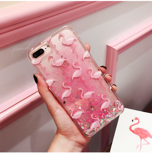 Flamingo Glitter Phonecase - women phonecases - Kerkés Fashion