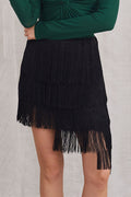 Helen Fringy Ladder Layer Skirt - Skirts - Kerkés Fashion