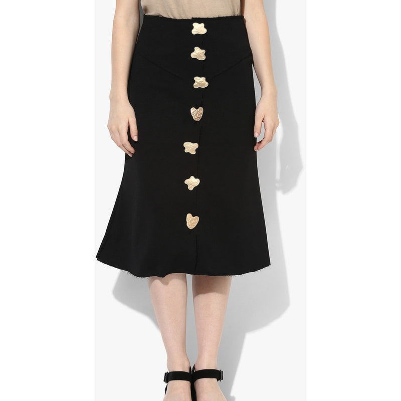 Barbara Beaten Button Structured Skirt - Skirts - Kerkés Fashion